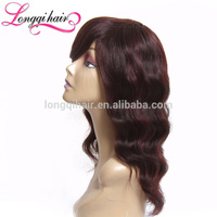Fashion Brazilian Natural Color Short Brzailian Hiar Full Lace Wig