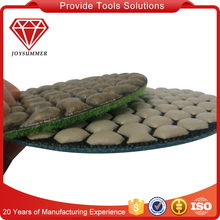Diamond dry polishing pads for stones