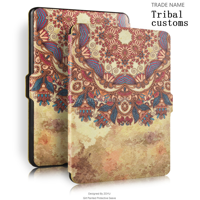 custom leather tablets case cover for amazon new touch for kindle paperwhite