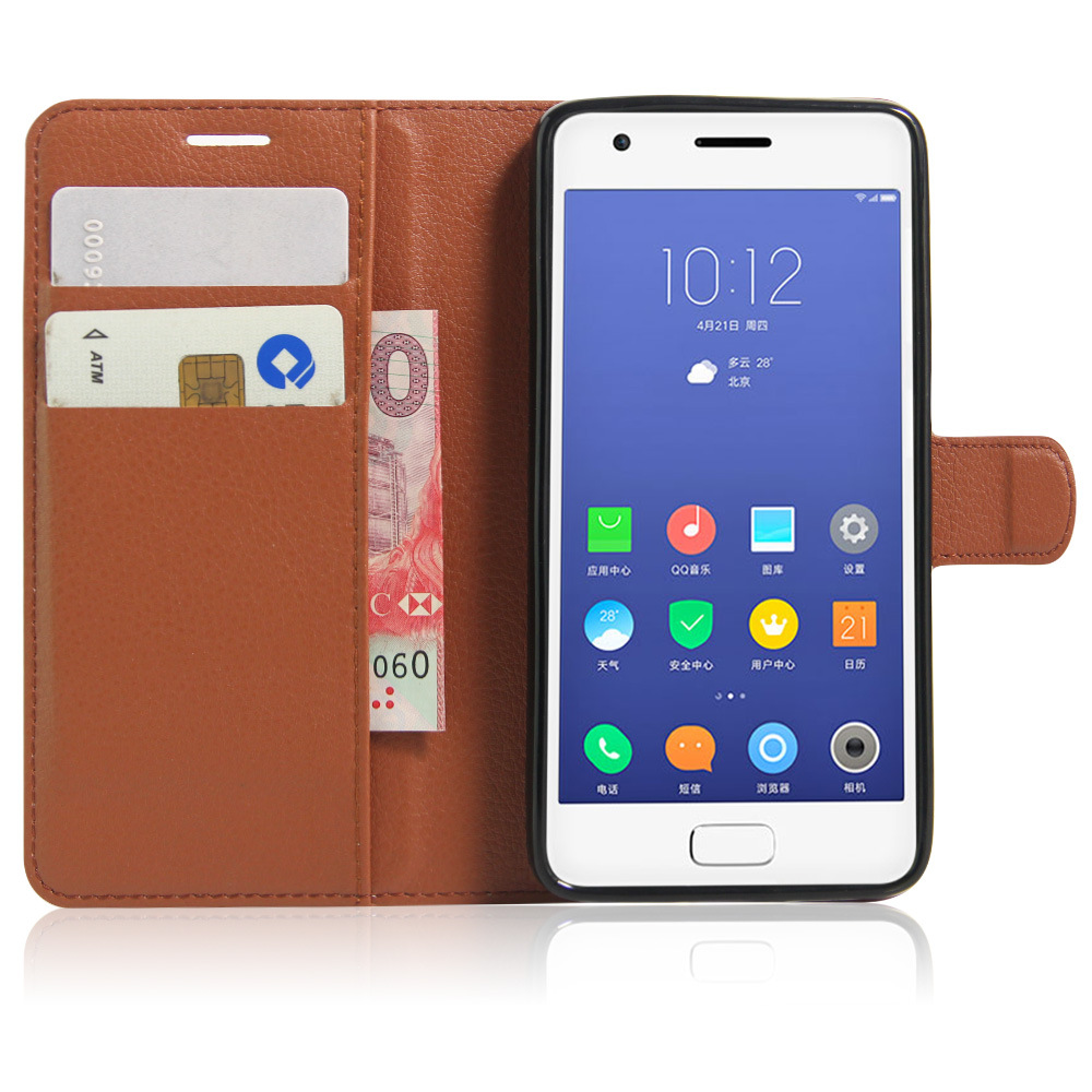 high quality leather case for lenovo zuk z2 flip cover