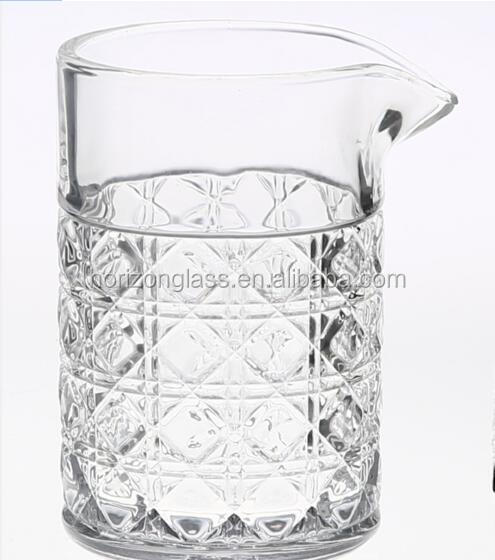 Vintage diamond cut cocktail glass bar party mixing glass cocktail 750ml glass