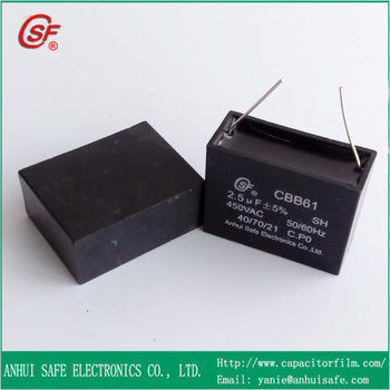 2.5uf cbb61 high stability winding machine capacitor with high ac power 450v