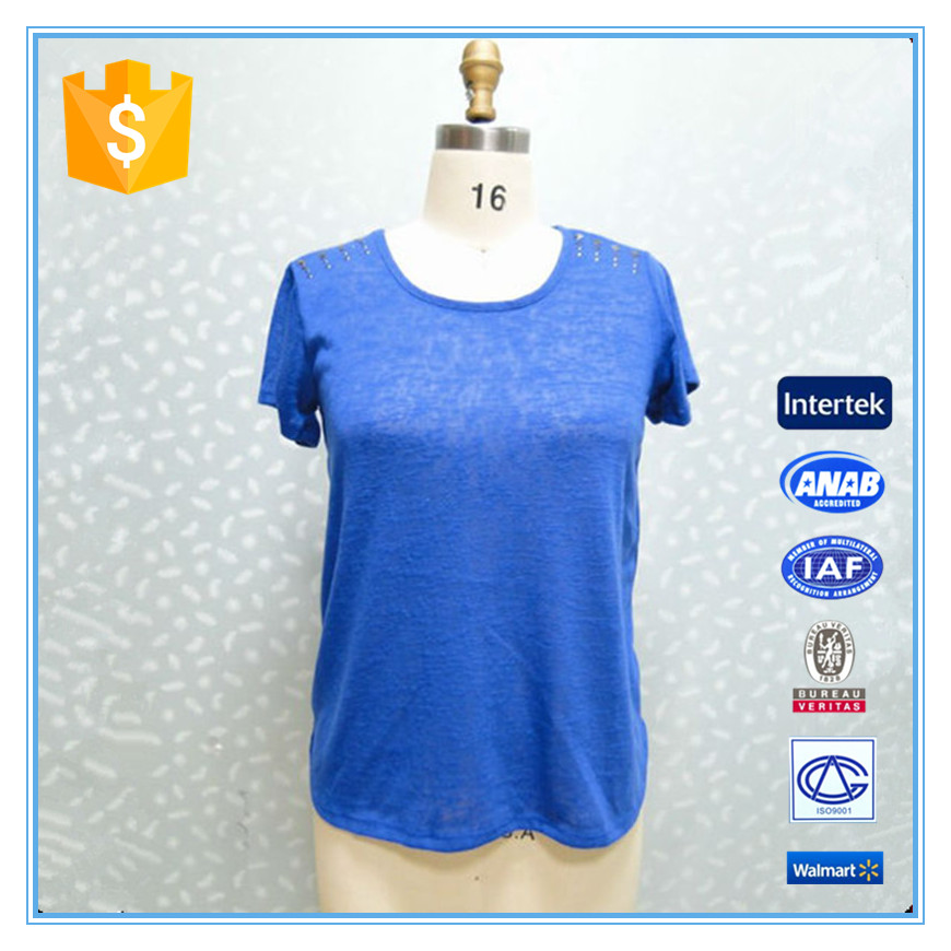 Ladies New Design Top Cutting Fashion Designers Casual Blouse