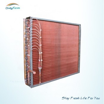 fin tube refrigeration evaporator coil with condenser