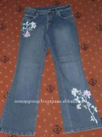 [Super Deal] Embroidery women jeans