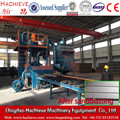 Roller type shot blasting machine for steel plate