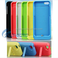 High Quality Colorful 2200mAh External Power Pack Wireless Power Bank Charger Case for iphone 5G 5S 5C