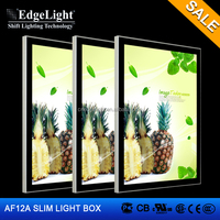 Edgelight hot sale advertising display magnetic type AF12A aluminum frame 321*444mm single side slim light box thickness 21mm