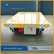 25t Track handling carriage with audible warning device for shipyard transportation