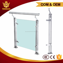 China Factory Stainless Steel Indoor Fitting Internal Glass Balustrade
