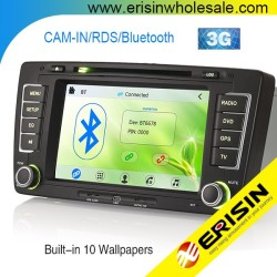 "Erisin ES7699M 7"" Autoradio 2 Din Car DVD with GPS 3G"
