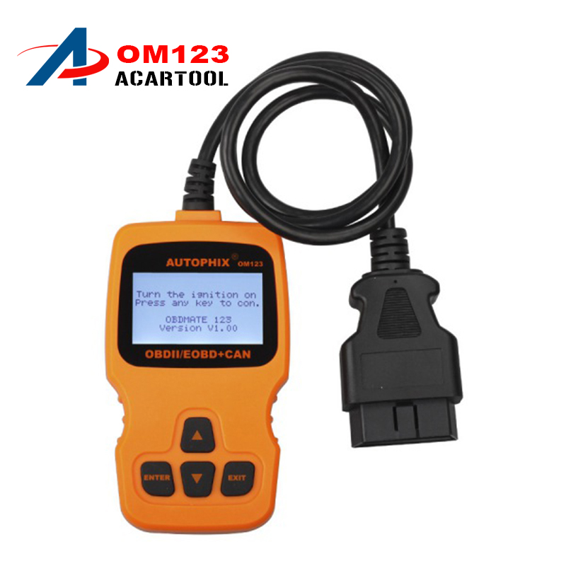 Multi-language AUTOPHIX OBDMATE OM123 OBD OBD2 EOBD CAN Hand-held Engine Analyzer Code Reader OM123 Auto Diagnostic Scanner
