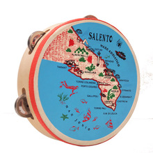 wholesale colored Musical Instruments map tambourine head drum skin printed by customer