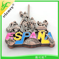 Espana souvenir high quality custom logo zinc alloy fridge magent