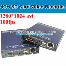 4ch 1280*1024 SD4900 grabadora <span class=keywords><strong>de</strong></span> vídeo sd card, Mobile dvr