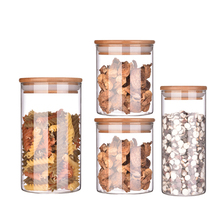 hand made high quality decorative storage <strong>glass</strong> <strong>jar</strong> straight sided <strong>glass</strong> <strong>jar</strong> bamboo lid