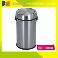 65L new products Indoor swing top open push lid stainless steel waste bin