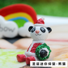 Chrismas Gift Resin Craft Animal Panda Pendant Garden Decoration With Panda