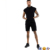KY twinset gold zipper side Over-the-head style bottoms Drawstring waistband tank running shorts tracksuit set men in black