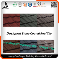 High Quality Aluminum Zinc Plate Colorful Stone Coated Metal Roofing Tile for Africa Market
