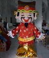 Happy God of fortune costume/smile mascot costume for new year
