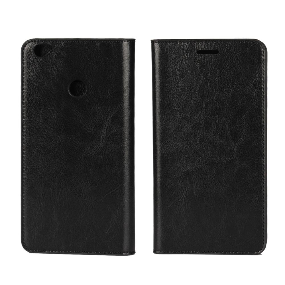 Mobile Phone Accessories Crazy Horse Genuine Leather Wallet Case for Xiaomi Max Mix Cover Couqe Fundas Carcasa