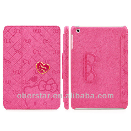 New Lovely Knot Hello Kitty PU Leather Stand Cover Folio Case For Apple iPad 5