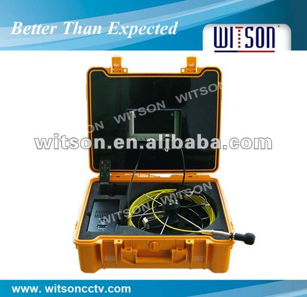 WITSON usb drain sewer inspection camera with fiberglass cable