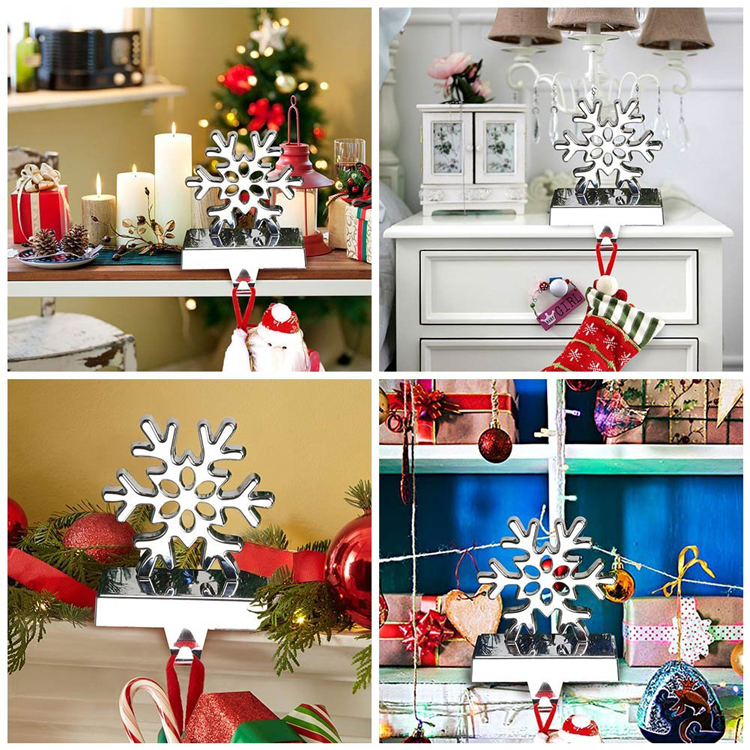 christmas 2017 new hot items gifts 3d snowflake christmas stocking holder