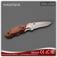 2017 New Style Sand Blasting Stainless Steel Outdoor Knife with Wood Handle