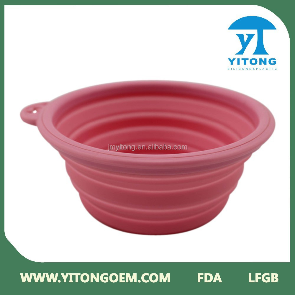 2017 High quality Silicone dog bowls wholesale portable dog drinking bowl