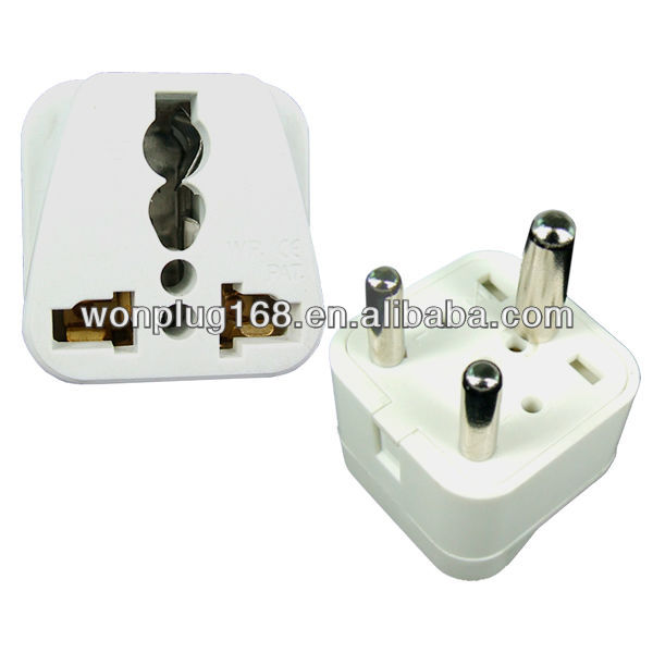 UK to south african 3 pin plug socket,multi plugs socket
