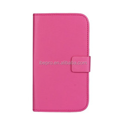 Factory Price Wallet Leather Case Cover with Belt Clip for Samsung Galaxy