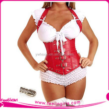 Wholesale Red Sexy Steel Bone Underbust Garter Strap Corset