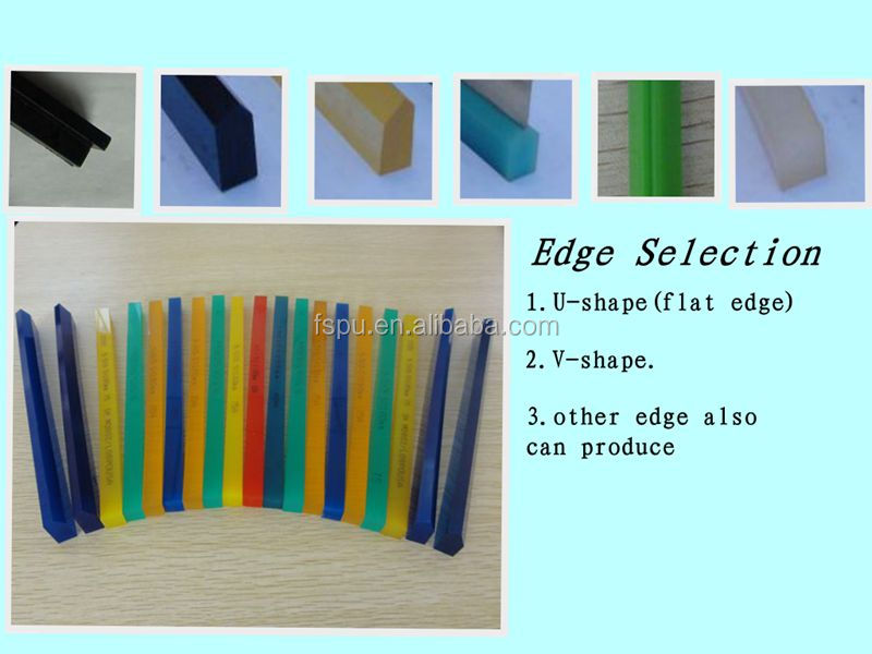 high wear-resistance Polyurethane squeegee for screen printing