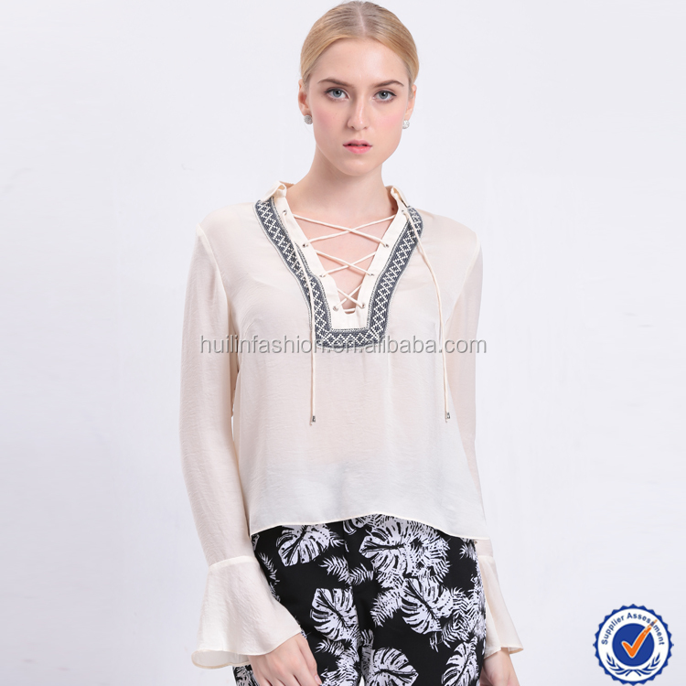 online shopping india white long butterfly sleeve elegant turn down collar women blouse sexy ladies young tops fashion clothing