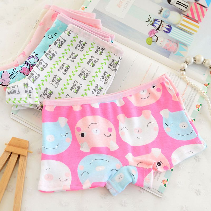 2016 hot sale cartoon cool children boxer underwear for girls cute cotton pants for children kids pants