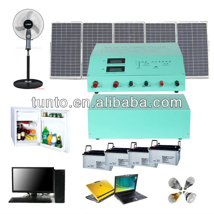 Portable Solar Power Kits System For Village Home Indoor Lighting,1000W kit solar