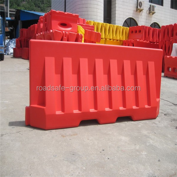 2 meters water filled traffic blowing plastic road safety barrier