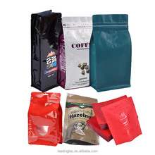 Gravure printing plastic coffee packaging bag with zipper