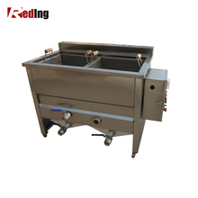 Double Tanks potato chips deep frying fryer machine