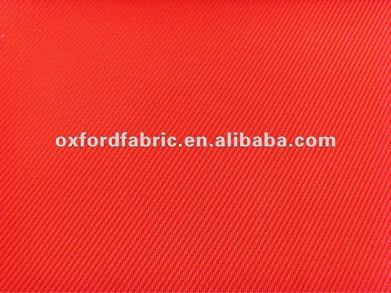 red PU coating 1200D twill oxford fabric/440gms/waterproof