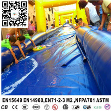 Customized blow up slip and slide for outdoor/inflatable slip and slide for adults/kids