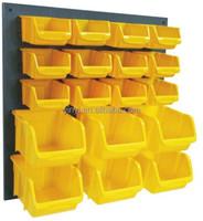 Popular Wall Mount Storage Garage Plastic Bins, Tool Organizer,Spare Parts Bin System (202707)