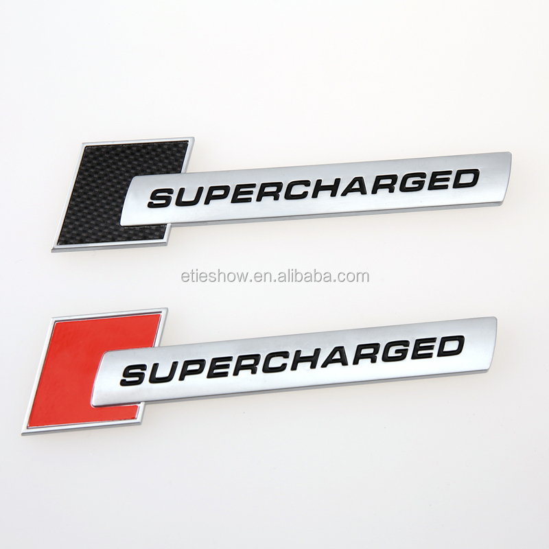 ETIE Supercharged Logo Car Emblem Badge ABS Chrome Sticker