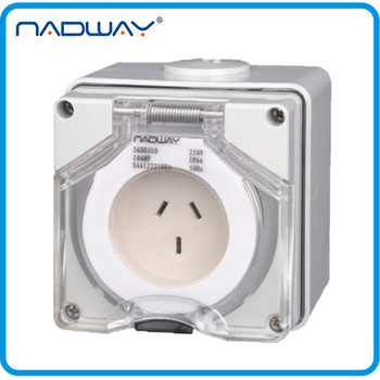 56SO310 IP66 2P+E 10A/250V Industrial Waterproof Socket