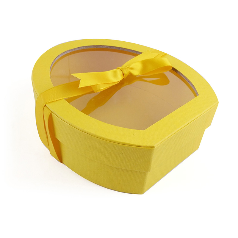 discount products stock cardboard chocolate box with ribbon and window