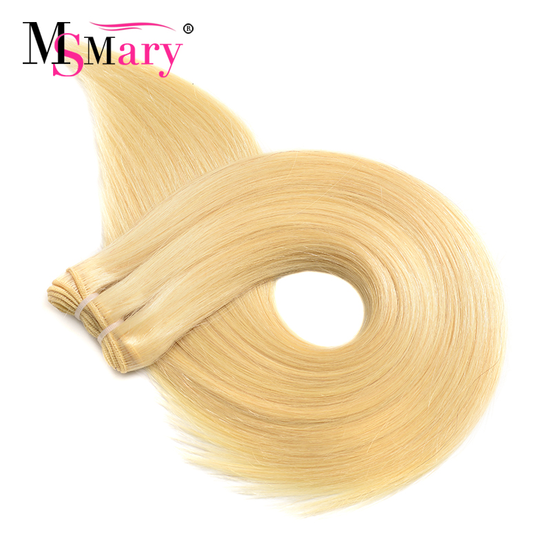 Color 613 Honey Blonde Real Remy Cuticle Aligned Hair Weave Human Hair Extension Virgin Brazilian Hair Bundles