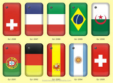 2014 new arrival cheap OEM print national flag mobile phone case