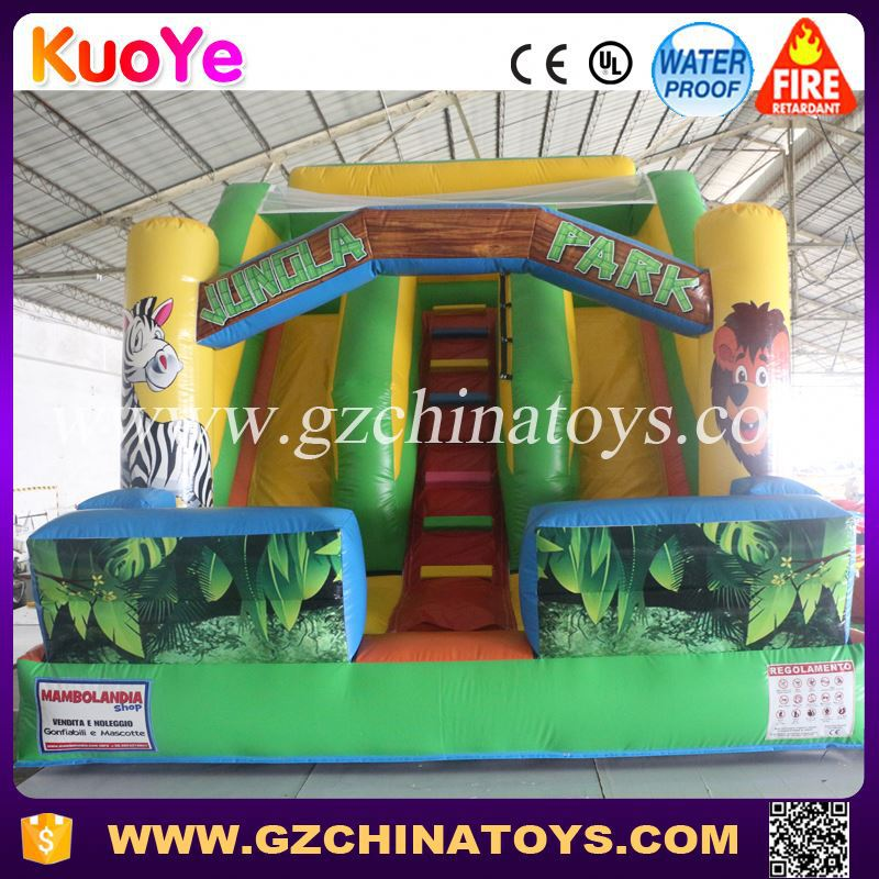 outdoor games inflatable slide for kids and adults